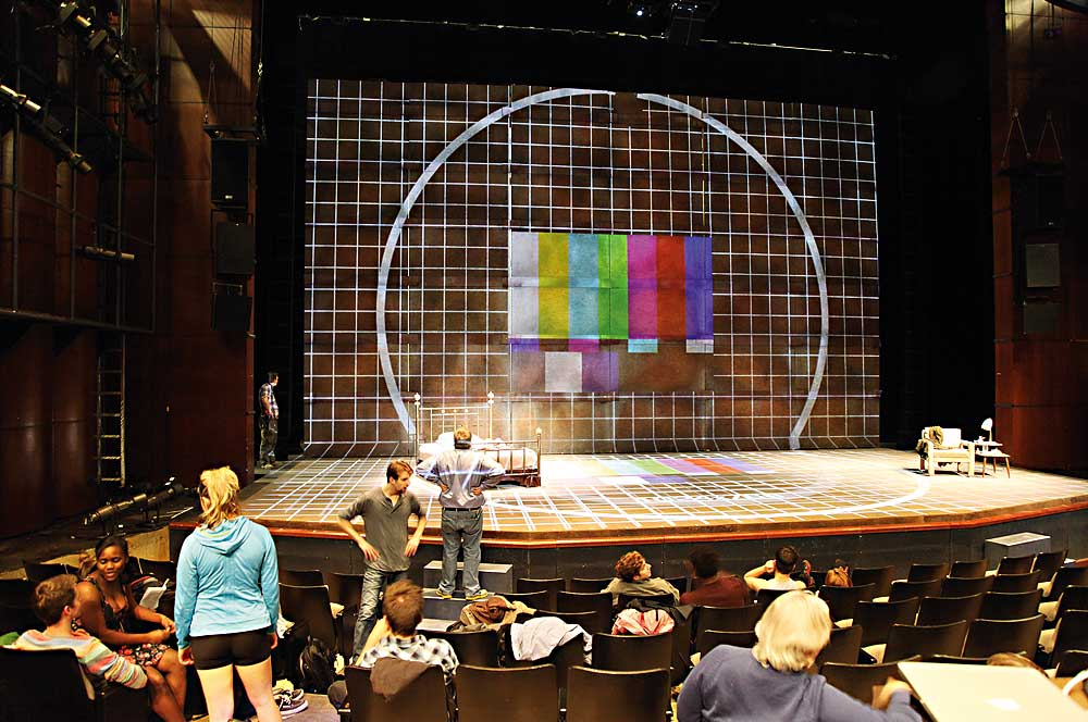This image shows the use of holographic techology at an American Theatre
