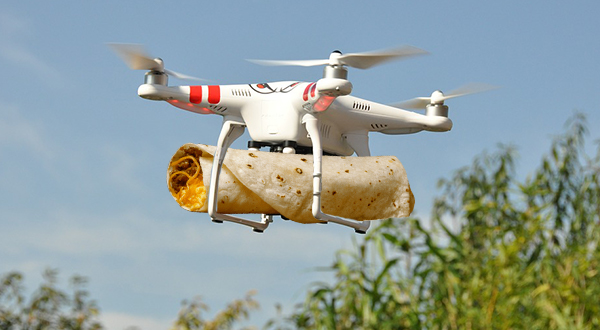 Food delivery by drones